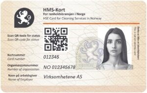 Image of the credit card sized HSE card.